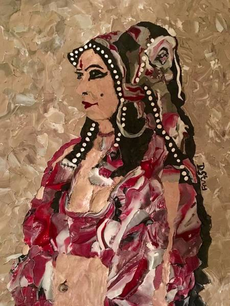 Mixed Media - Gypsy Dancer by Deborah Stanley