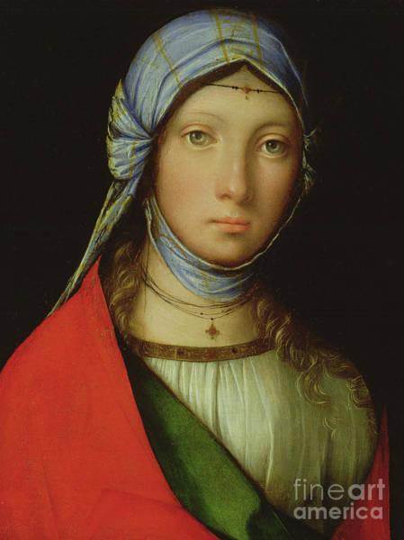 Wall Art - Painting - Gypsy Girl by Boccaccio Boccaccino