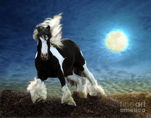 Digital Art - Gypsy Moon by Melinda Hughes-Berland