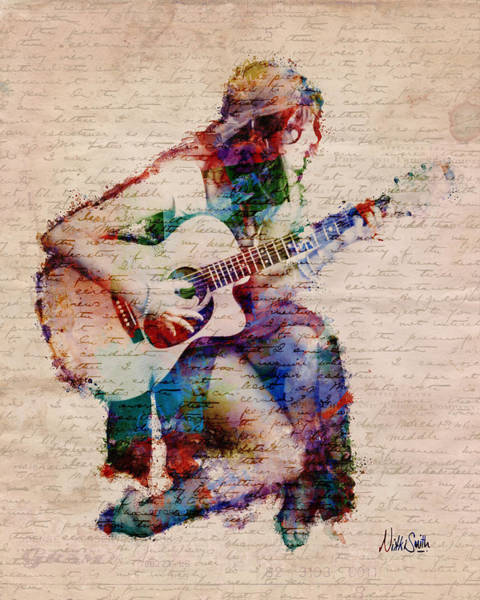 Grunge Music Wall Art - Digital Art - Gypsy Serenade by Nikki Smith