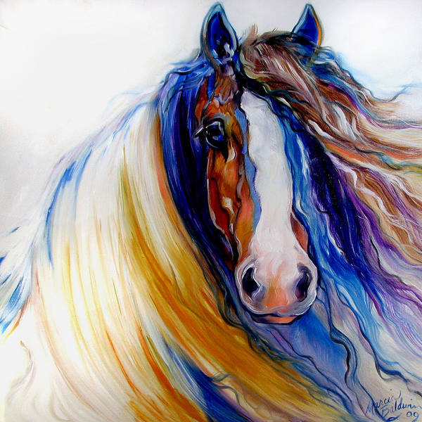 Wall Art - Painting - Gypsy Vanner Rogue by Marcia Baldwin