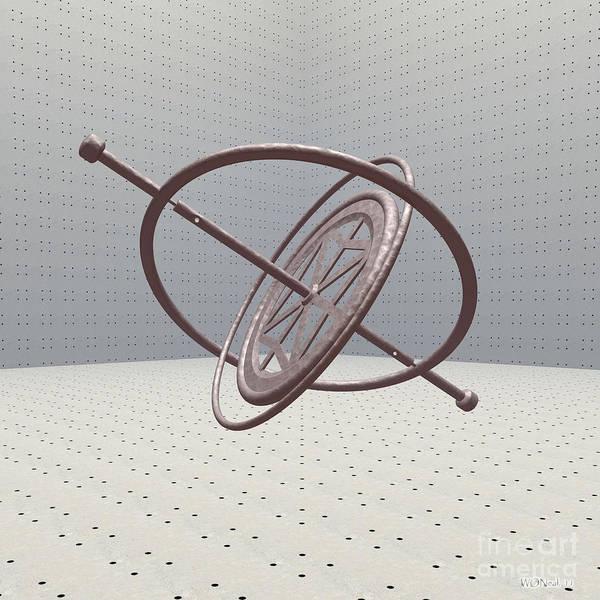 Digital Art - Gyroscope by Walter Neal