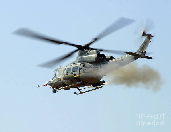 Firepower Photograph - H-1 Upgrades Test Pilot, Launches by Stocktrek Images