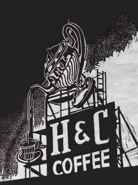 Wall Art - Photograph - H And C Coffee Sign by Suzanne Gaff