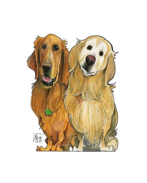 Pet Portrait Drawing - Haberland 7-1317 by John LaFree