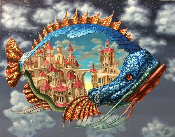 Painting - Habitable Fish by Victor Molev