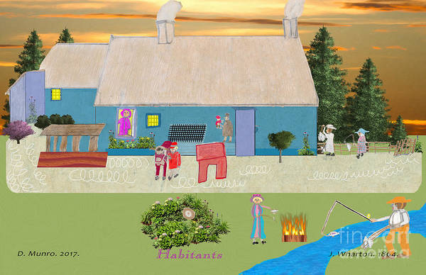 Digital Art - Habitants Version 6 by Donna L Munro