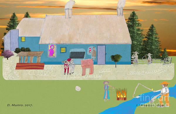 Digital Art - Habitants Version 5 by Donna L Munro