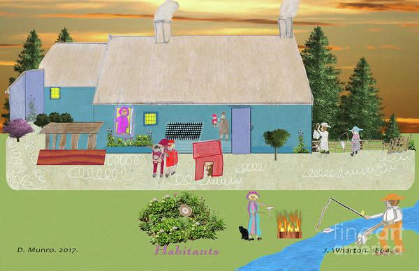 Digital Art - Habitants Version 7 by Donna L Munro