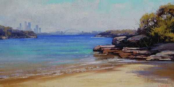 Australian Art Painting - Habour Beach Sydney by Graham Gercken