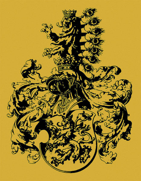 Painting - Habsburg, Coat Of Arms  by Andrea Mazzocchetti
