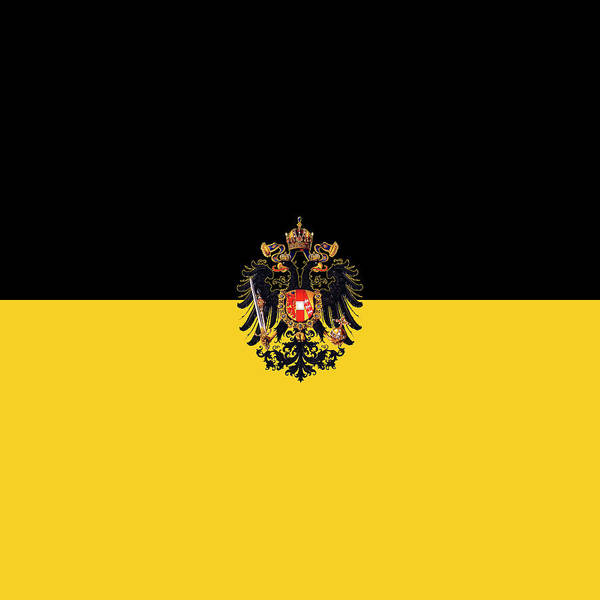 Habsburg Flag With Imperial Coat Of Arms 3 Art Print