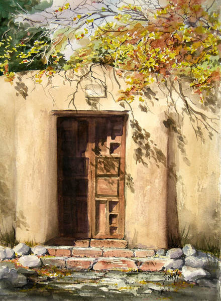Adobe Walls Painting - Hacienda Gate by Sam Sidders