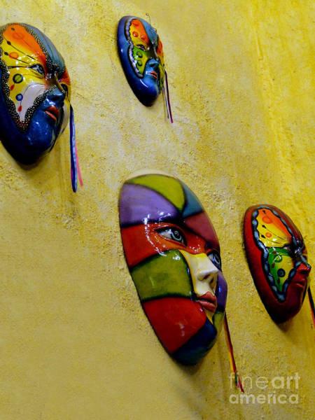 Wall Art - Photograph - Hacienda Masks In Santiago - Panama by Al Bourassa