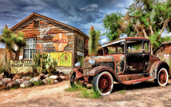 Painting - Route  66 Hackberry General Store by Christopher Arndt