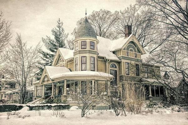 Victorian House Digital Art - Hackenberg/grace Mansion by Alexander Belisle