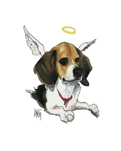 Pet Portrait Drawing - Hackenjos 3219-2 by John LaFree