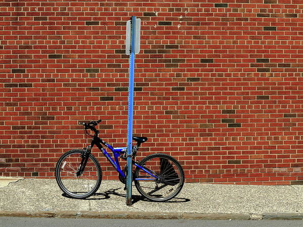 Photograph - Hackensack, Nj - Bricks And Bicycle 2018 by Frank Romeo