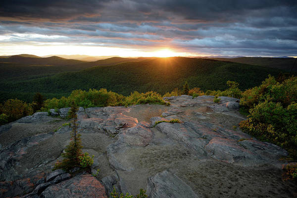 Photograph - Hadley Mountain Sunset by Brad Wenskoski