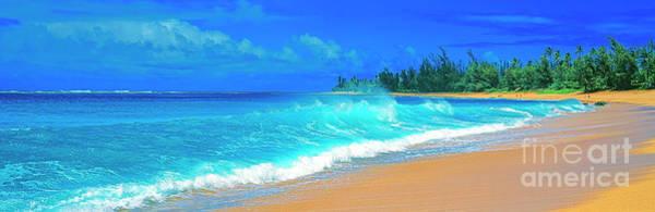 Photograph -  Haensa Beach Surf Kauai by Tom Jelen