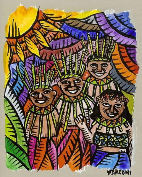 Painting - Hafa Adai Welcome To Saipan by Marconi Calindas