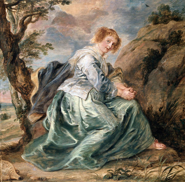 Painting - Hagar In The Desert by Peter Paul Rubens