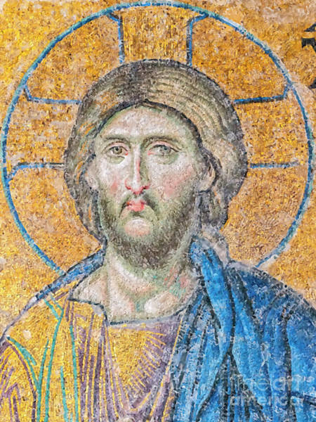 Greek Icon Painting - Hagia Sofia Jesus Mosaic Digital Painting by Antony McAulay