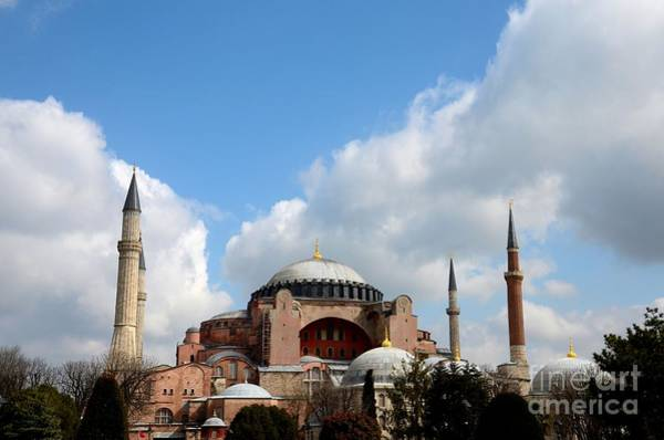 Photograph - Hagia Sophia Basilica Cathedral Museum Istanbul Turkey by Imran Ahmed