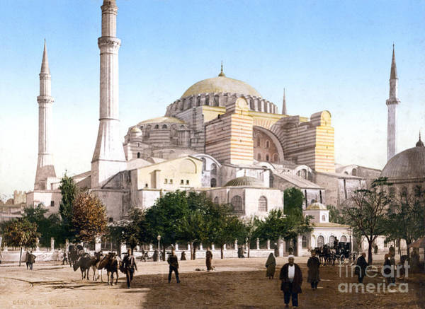 Painting - Hagia Sophia In Constantinople by Celestial Images