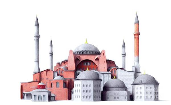 Istanbul Painting - Hagia Sophia, Istanbul by John Springfield