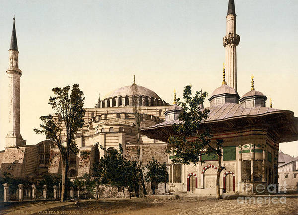 Painting - Hagia Sophia Mosque And Ahmed IIi Fountain by Celestial Images