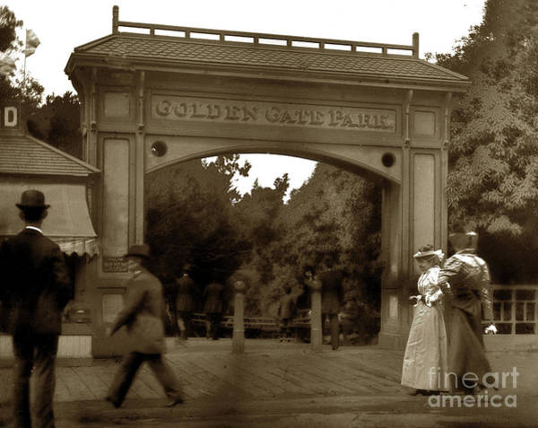 Photograph - Haight And Stanyan Entrance To Golden Gate Park 1900 by California Views Archives Mr Pat Hathaway Archives