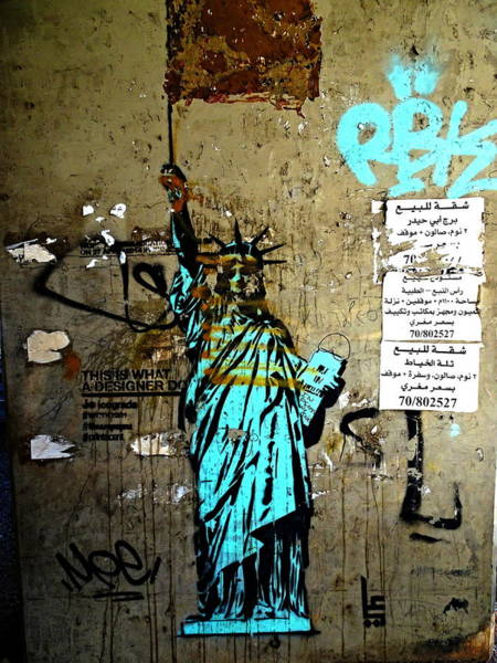 Arte Photograph - Hail To Liberty In Beirut by Funkpix Photo Hunter