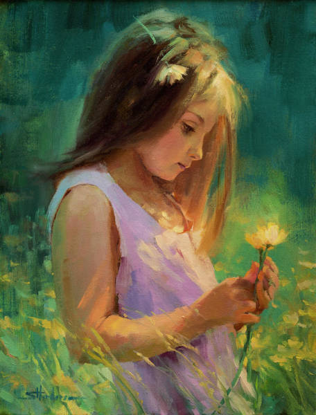 Child Painting - Hailey by Steve Henderson