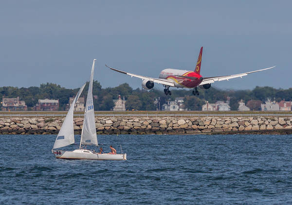 Photograph - Hainan Airlines 787 Dreamliner Landing At Logan by Brian MacLean