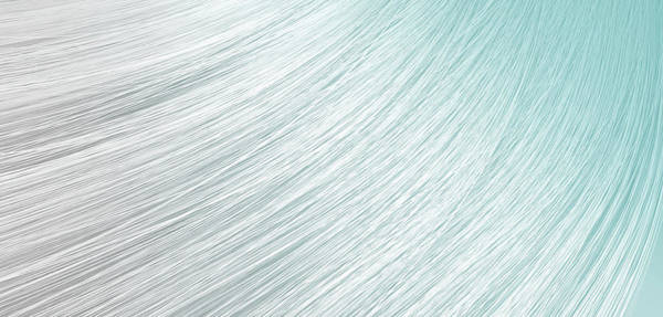 Straight Digital Art - Hair Blowing Closeup by Allan Swart