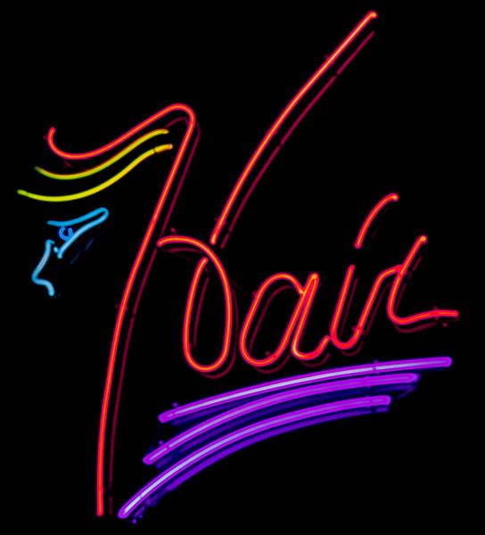 Hair In Neon Art Print