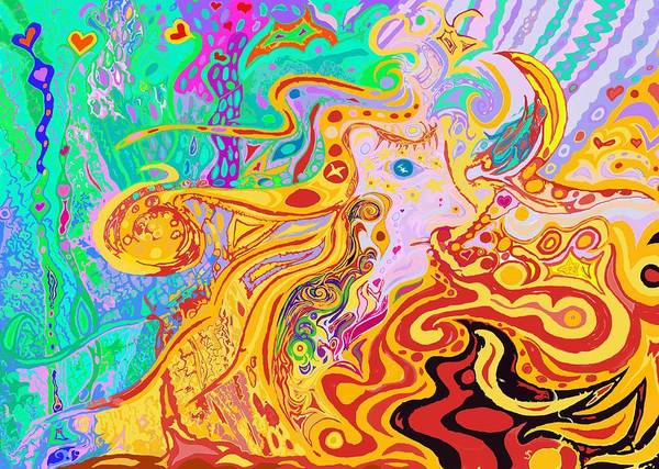 Painting - Hair Of The Divine Universe by Julia Woodman