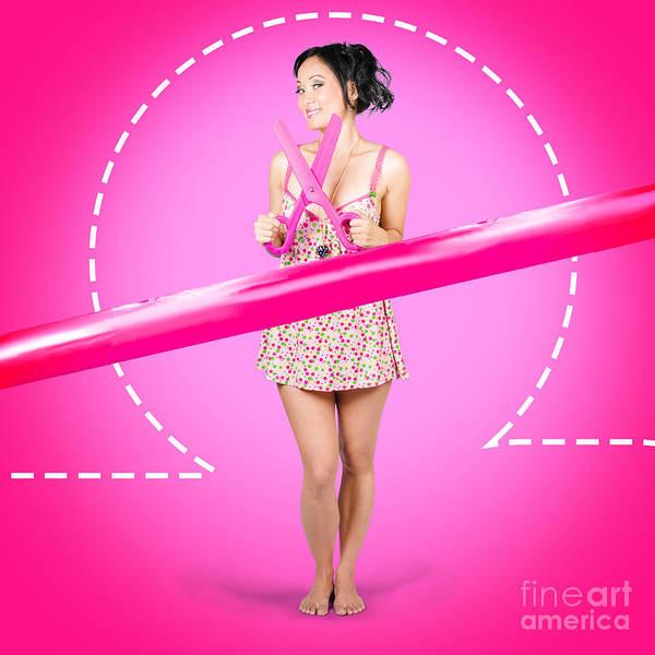 Hair Cuts Wall Art - Photograph - Hair Salon Woman With Scissors. Cut Price Sale by Jorgo Photography - Wall Art Gallery