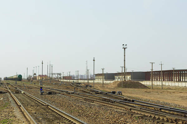 Photograph - Hairatan Rail Yard by SR Green