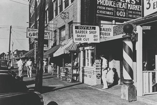 Muskogee Photograph - Haircut For 40 Cents 1939 by Library Of Congress