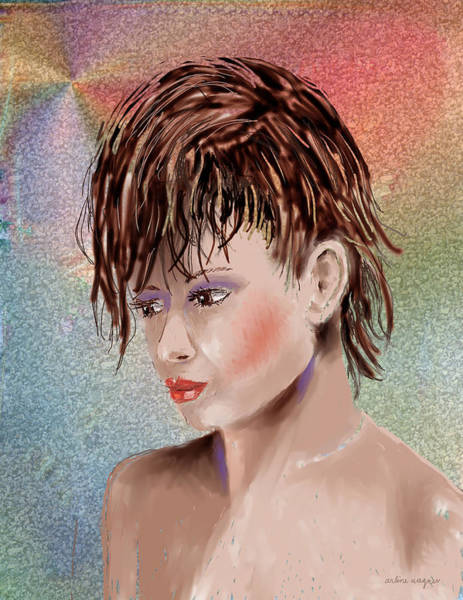 Hairdo Digital Art - Hairstyle Of Colors by Arline Wagner
