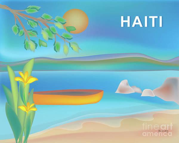 Wall Art - Digital Art - Haiti Horizontal Scene by Karen Young