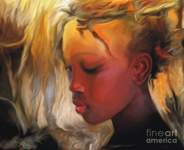 Haiti Painting - Haitian Beauty by Bob Salo