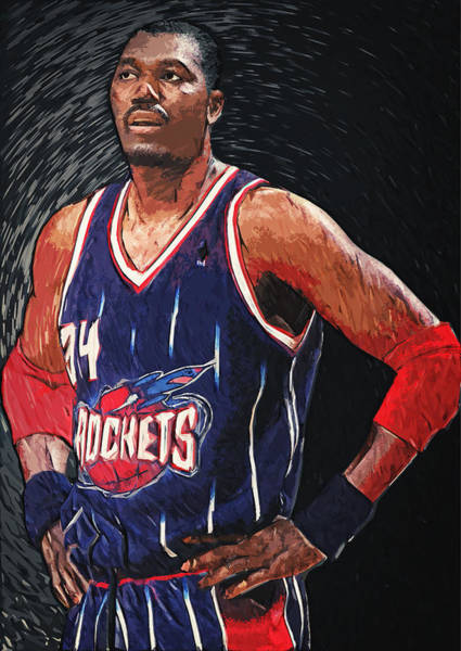 Digital Art - Hakeem Olajuwon by Zapista Zapista