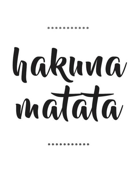 Lion Mixed Media - Hakuna Matata  by Studio Grafiikka