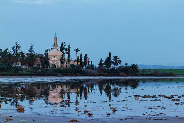 Nature Wall Art - Photograph - Hala Sultan Tekke And Its Reflection At Dawn by Iordanis Pallikaras