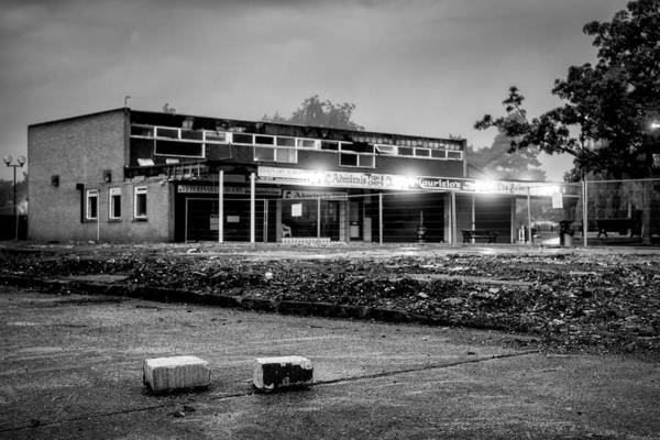 Photograph - Hale Barns Square - Demolition In Progress by Neil Alexander