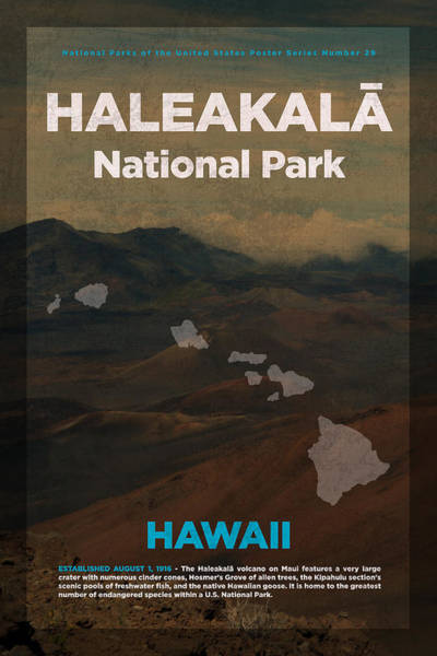 Hawaii Mixed Media - Haleakala National Park In Hawaii Travel Poster Series Of National Parks Number 29 by Design Turnpike