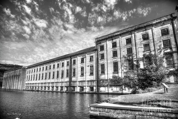 Photograph - Hales Bar Dam B W Tennessee Valley Authority Tennessee River Art by Reid Callaway